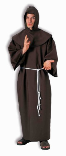 Forum Deluxe Hooded Monk Costume Robe