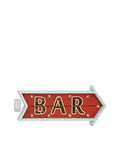 Bar Wood LED Wall Art With Remote