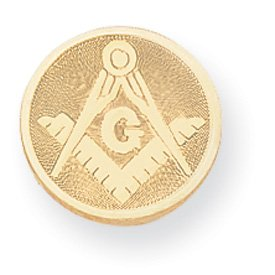 Gold-plated Masonic Tie Tack - JewelryWeb