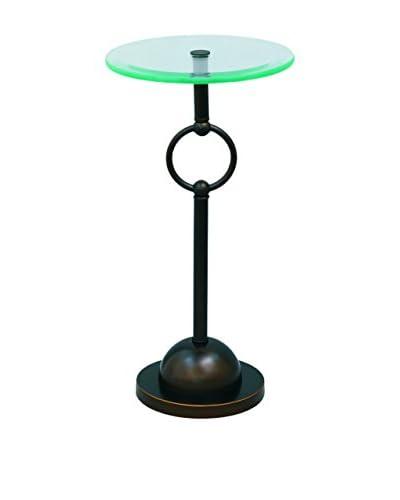 City Scape Accents Logan Accent Table, Bronze/Glass
