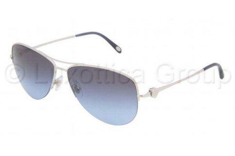 a81cfc6dff6d Tiffany   Co. Sunglasses TF3021 60014L SILVER BLUE GRADIENT GRAY LENS