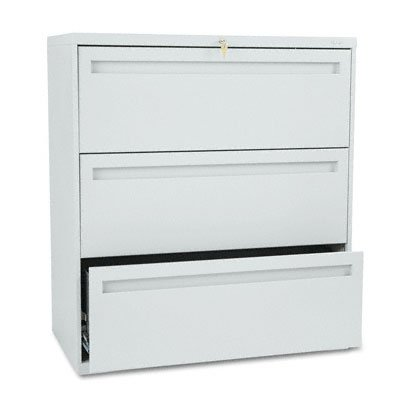Hon 783Lq 700 Series 36 By 19-1/4-Inch 3-Drawer Lateral File, Light Gray