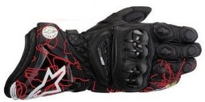 ALPINESTARS GP PRO MOTORCYCLE MOTORBIKE LEATHER RACE GLOVE RACING TRACK SPORTS GLOVES RED TRACK J&S (L)