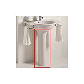 Sapho Bathroom Sink Pedestal Finish: White