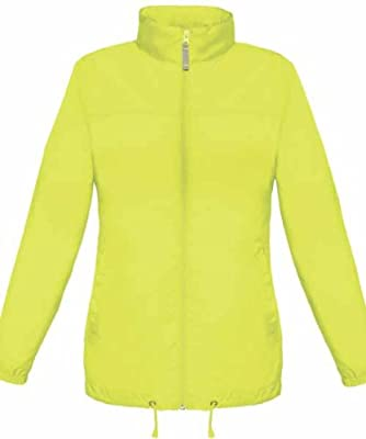 Lightweight High Visibility Hi Vis Viz Ladies Womens Showerproof Cycling Running Over Jacket [ALL SIZES AVAILABLE] from MK