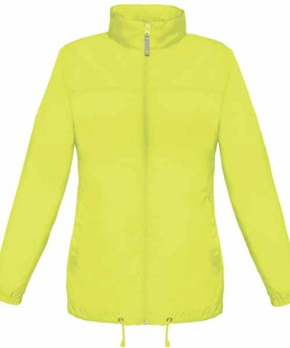 Lightweight High Visibility Hi Vis Viz Ladies Womens Showerproof Cycling Running Over Jacket [ALL SIZES AVAILABLE]