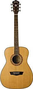 Washburn WF11SCE Heritage Series Solid Cedar/Mahogany Folk Cutaway Acoustic-Electric Guitar - Natural at Sears.com