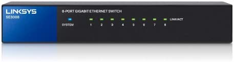 Linksys 8-Port Metallic Gigabit Switch (SE3008)