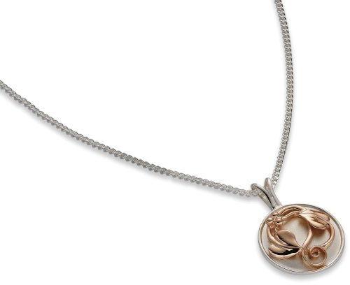 Ladies' Tree of Life Pendant Necklace, Sterling Silver Curb Chain, 46cm Length, Model STLP4, by Clogau Gold