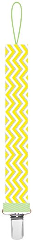 Ulubulu Universal Pacifier Clip - Yellow Chevron - 1