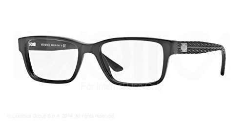 Versace Ve3198 Eyeglasses-Gb1 Black-55Mm