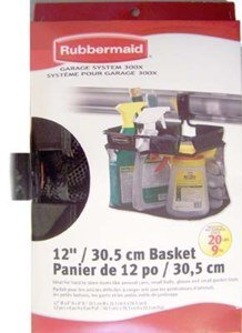 Rubbermaid Storage Basket for Garage Organizer - Black (Garage Organizer Rubbermaid compare prices)