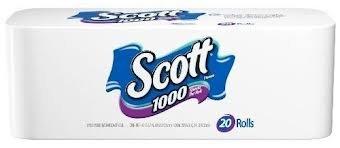 Scott Bath Tissue One-ply 20 Rolls 1000 Sheets Per Rolls
