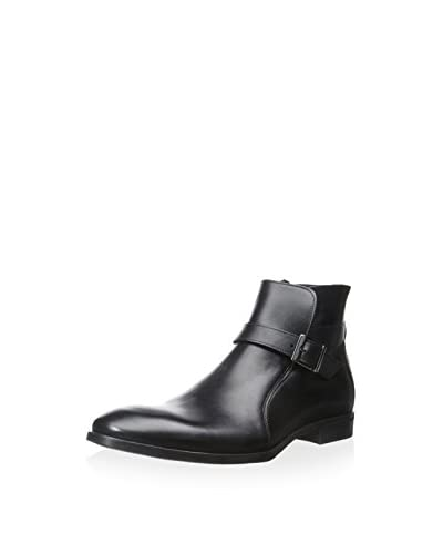 A. Testoni Men's Dress Boot with Buckle
