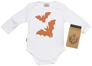 SR - Halloween Bats Baby Camisillas Bebé - 100% Bio-algodón - en caja de regalo de Spoilt Rotten