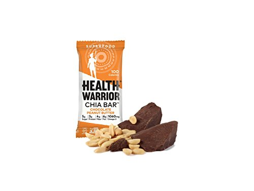 Health Warrior Chia Bars, Chocolate Peanut Butter, 13.2-Ounce (Pack of 15) (Gluten Free Peanut Butter Bars compare prices)