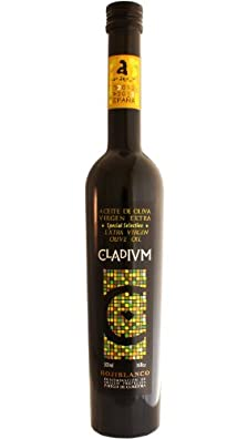 Special Selection -CLADIVM- Award Winning, Cold Pressed EVOO Extra Virgin Olive Oil, 2012-2013 Harvest, 17-Ounce Glass Bottle