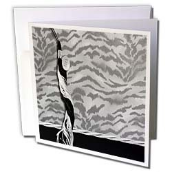 Beverly Turner Graduation Design Tiger Print with Tasel Class of 2013 Silver Gray with Silver Trim Greeting Cards 12 Greeting Cards with envelopes