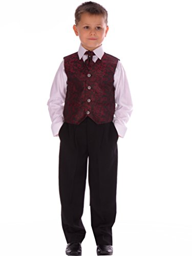 4-Piece-Boys-Wine-Paisley-Suit-12-18-Months-to-14-15-years