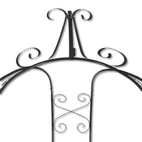 Elegant X-shaped scrollwork for easy vine climbing option and overall visual interest.