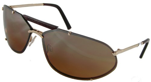Dolce & Gabbana D&G 4265S D78 Fashion Aviator Sunglasses, Gold Frame/ Brown Lenses