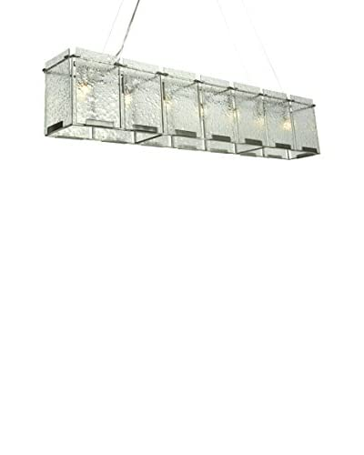 Varaluz Rain 7-Light Linear Pendant, Light Rain