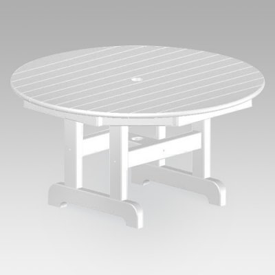 Poly-Wood Polywood Recycled Plastic Round Outdoor Coffee Table - RCT236BL