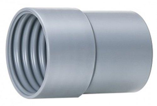 """Hi-Tech Duravent Super Vac-U-Flex Series Pvc Threaded Cuff, Grey, 1-1/2"""" front-618137"""