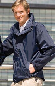Henbury Mens Lightweight Showerproof Shell Jacket - XX-Large - Navy