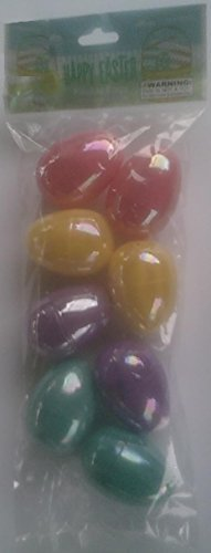 8 Plastic Easter Eggs with Pearl Finish