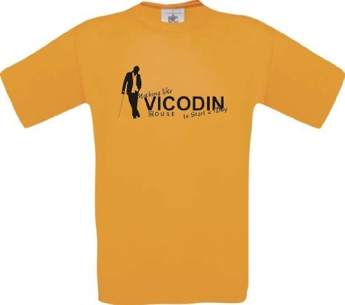 shirtinstyle-t-shirt-dr-house-nothing-like-vicodin-to-start-a-day-farbe-orange-grosse-xl