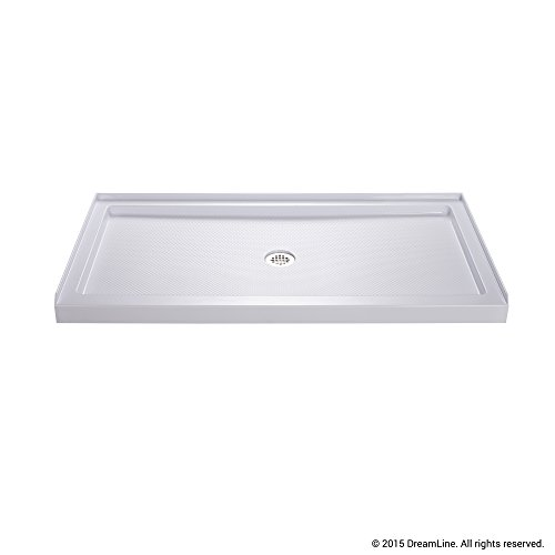 Lowest Prices! DreamLine SlimLine 30 in. x 60 in. Single Threshold Shower Base, Center Drain, DLT-11...