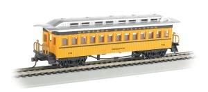 Bachmann Industries 1860 - 1880 Passenger Cars - Coach - Durango & Silverton #270, Yellow, Black & Silver