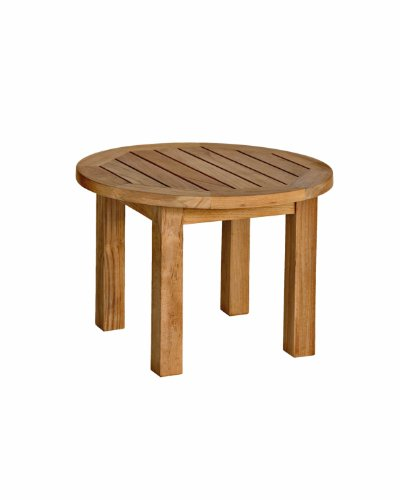Three Birds Casual Canterbury 20-Inch Low Round Side Table, Teak