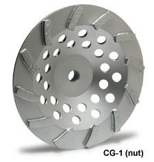 "MK Diamond 158729 MK - 504CG - 1 Nut Supreme Grade Turbo Cup Wheel, 5"" X 5/8 - 11"
