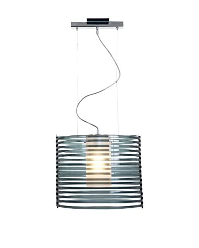 Access Lighting Enzo 1-Light Pendant, Chrome/Smoke