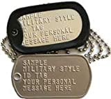 Custom Military Dog Tags Army ID