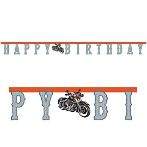 Cycle Shop Happy Birthday Banner by Creative Converting by Creative Converting