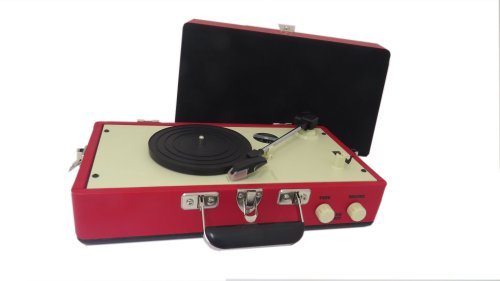 Steepletone Srp025 3 Speed Record Player With Detachable Speaker - Red
