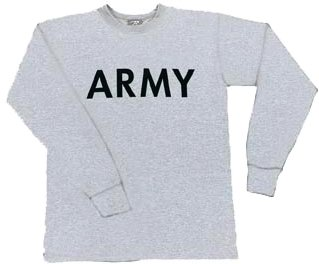 Grey Army Long Sleeve Physical Training T-Shirt Army Universe Tees ... 6c1606c59e8