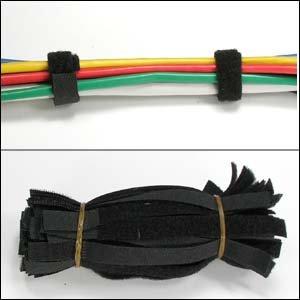 "InstallerParts 6"" Velcro Strap 1/2"" Width Black, 50pc Pack"