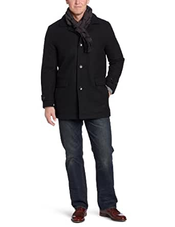 London Fog Men's Lynwood Car Coat, Black, Small