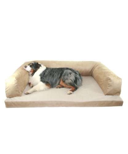 """Baxter Couch Bolster Dog Bed Color: Poly-Suede Sage, Size: Extra Large (54"""" L x 34"""" W)"""