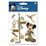 12 Pack DISNEY 3D STIX JUNGLE MICKEY Papercraft, Scrapbooking (Source Book)