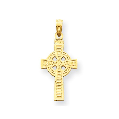 14k Reversible God is Love Celtic Cross Pendant