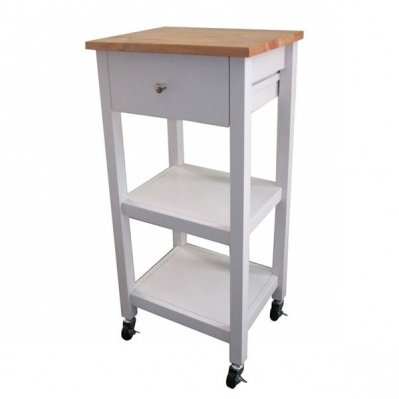 Rolling Kitchen Cart With Pull Out Storage Draw And 2 Level Shelves A Great Piece Of Kitchen Furniture