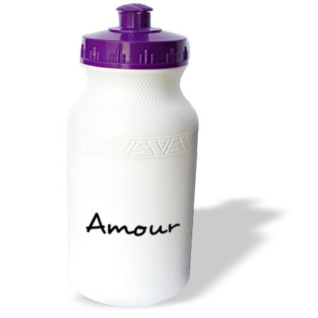 Wb_185028_1 Inspirationzstore Love Series - Amour, Word For Love In French, Romantic World Language, France Text - Water Bottles