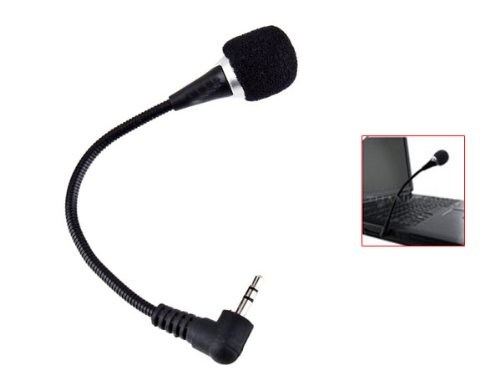 Flexible Mini 3,5 mm Audio-Mikrofon für Laptop Notebook Tablet PC MSN Skype