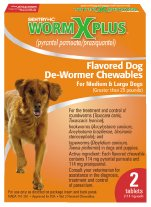 Worm X Plus for Large Dogs over 25 Lbs 2ct