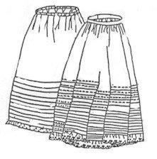 Corded & Tucked Petticoats